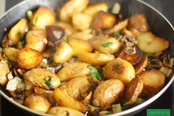 рецепт из курицы и картошки на плите